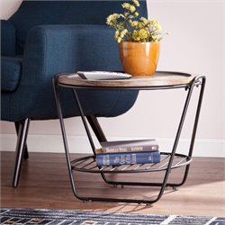 Holly & Martin Octavio End Table in Burnt Oak