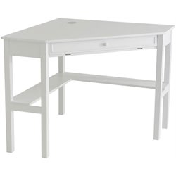 Holly & Martin Alexander Corner Computer Desk in Painted White
