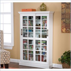 Holly & Martin Emerson Sliding Door Media Cabinet in White