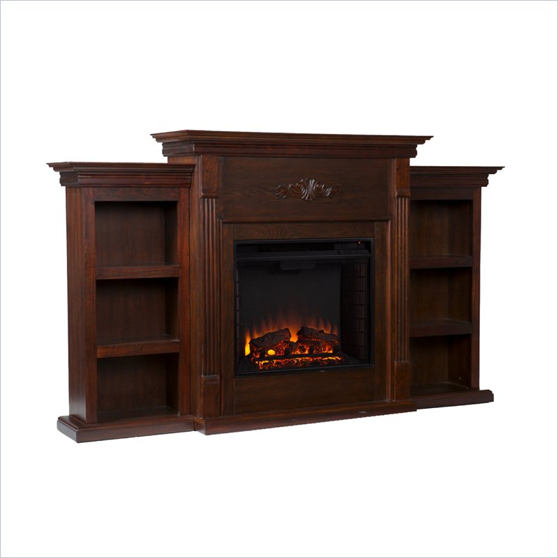 Holly & Martin Fredricksburg Electric Fireplace w/ Bookcases in Espresso