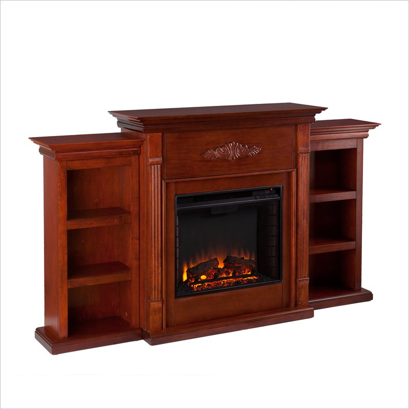 Holly & Martin Fredricksburg Electric Fireplace w/ Bookcases in Mahogany