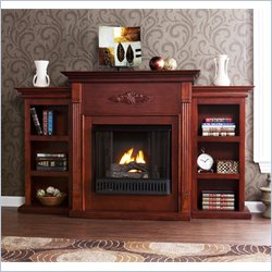 Holly & Martin Fredricksburg Gel Fireplace w/ Bookcases in Mahogany