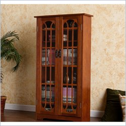 Holly & Martin Grayson Window Pane Media Cabinet in Oak
