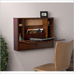 Holly & Martin Holden Wall-Mount Laptop Desk in Brown Mahogany