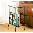 Kilpatrick Metal Magazine Table in Painted Black