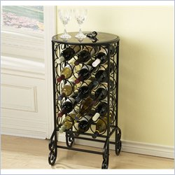 Holly & Martin Monterey Glass Top Wine Table in Painted Black