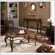 Holly & Martin Newcastle 4 Piece CoffeeTable Set in Dark Cherry