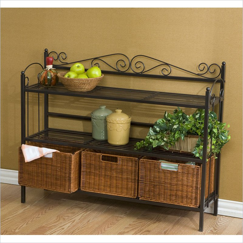 Holly & Martin Petaluma 3-Drawer Baker's Rack