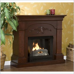 Holly & Martin Salerno Gel Fireplace in Mahogany