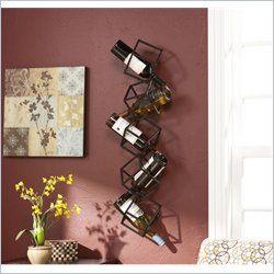 Holly & Martin Vallejo Wall Mount Wine Storage Unit in Brushed Metal
