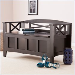 Holly & Martin Branson Storage Bench in Painted Black