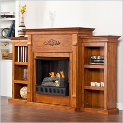 Holly & Martin Fredricksburg Gel Fireplace with Bookcases in Pine