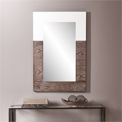 Holly & Martin Wagars Mirror in Burnt Oak and White
