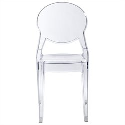 Italmodern Igloo Stacking Dining Chair in Transparent