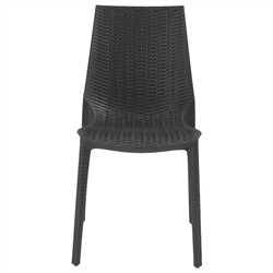 Italmodern Lucrezia  Stacking Dining Chair in Anthracite