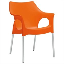 Italmodern Ola Armchair in Orange and Aluminum