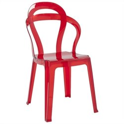 Italmodern Titi Dining Chair in Transparent Red