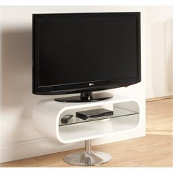 Tech Link Opod TV Stand White with Chrome base