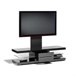 Tech Link Echo TV Stand Black Contrasting Detailing and Screen Mount