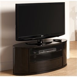 Tech Link Ellipse TV Black with Bow Front Drawer and Curved Doors