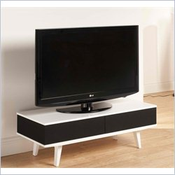 Tech Link Fabrik TV Stand with Concealed Storage in Black and White