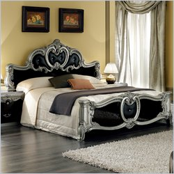 camelgroup Barocco Bed in Black w/Silver - Queen