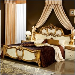 Camelgroup Barocco Bed in Ivory with Gold - Queen