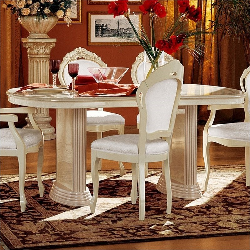 camelgroup Rossella Dining Table in Ivory