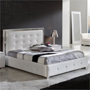 Dupen Coco Queen Size Storage Bed in White