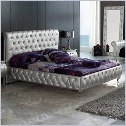 Dupen Lorena Bed in Silver - Queen