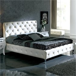 Dupen Nelly Bed in White - Queen