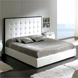 Dupen Penelope Storage Bed in White - Queen