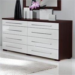MCS Luxury Double Dresser in Wenge/White