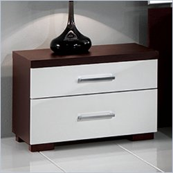 M.C.S Furniture Luxury Nightstand in Wenge and White