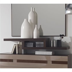 Benicarlo 112 Series Floating Shelf in Wenge/Capuccino