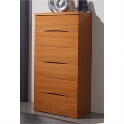 Benicarlo 114 Series 6 Drawer Chest in Cherry