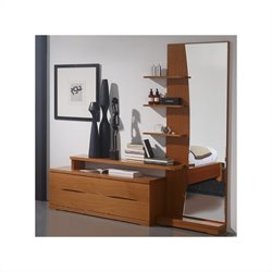 Benicarlo 114 Series Right Fancy Dresser and Mirror in Cherry