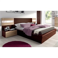 Benicarlo Maya Bed with Storage Kit in Dark Wenge
