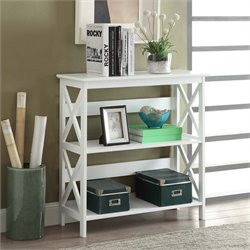 Convenience Concepts Oxford 2 Shelf Bookcase in White