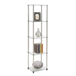 4 Shelf Glass Tower