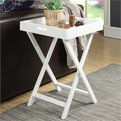 Convenience Concepts Baja Tray End Table in White