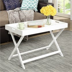 Convenience Concepts Baja Tray Coffee Table in White