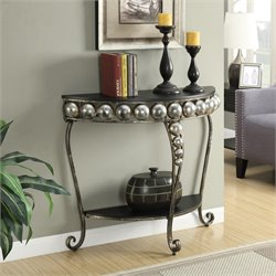 Convenience Concepts French Provence Capri Entryway Table in Black