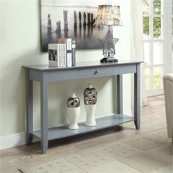 Convenience Concepts American Heritage Console Table in Gray
