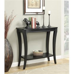 Convenience Concepts Newport Console Table in Black