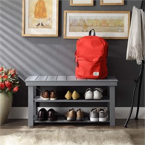 Utility Mudroom Entryway Bench in Gray