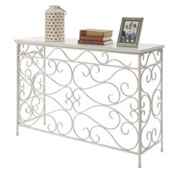 Convenience Concepts Wyoming Console Table in White