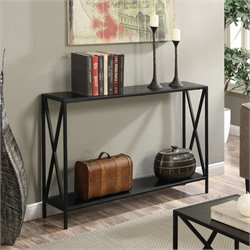 Convenience Concepts Tucson Console Table in Black