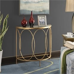 Convenience Concepts Gold Coast Julia Entryway Table in Gold