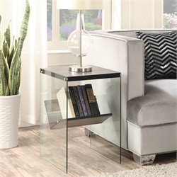 Convenience Concepts Soho End Table in Weathered Gray